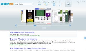 Searchme Results Page Visual and Text