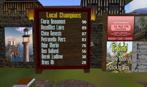 Renaissance Island's Local En Garde! Champions